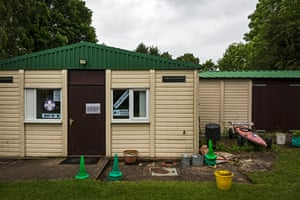 A Scout hut as polling station in Old Dalby in Leicestershire.