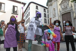 A rally in Madrid to mark 10 years since Spain ratified the International Labour Organization's domestic workers convention