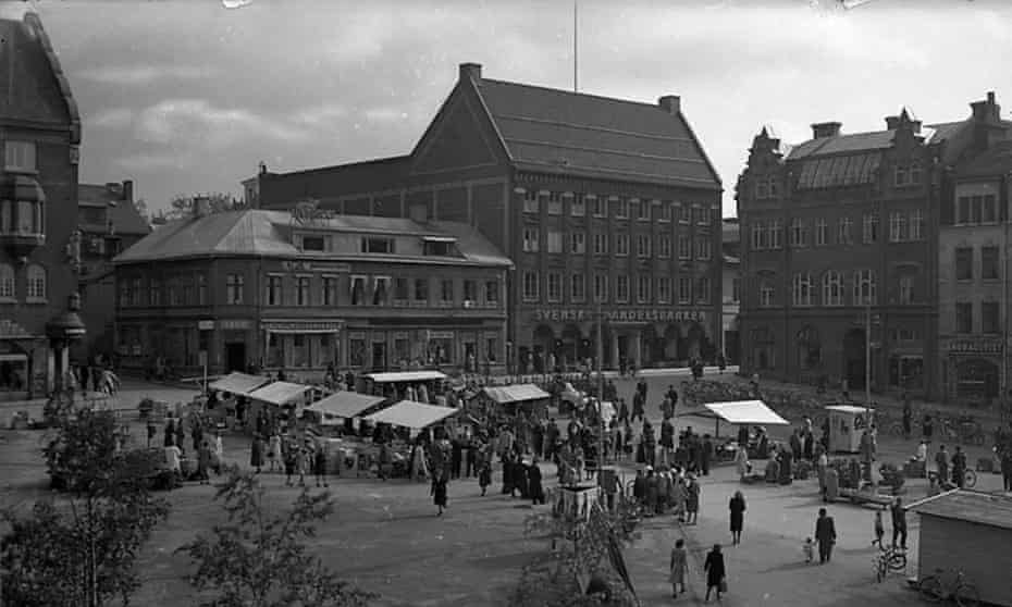 Archive black and white picture Östersund