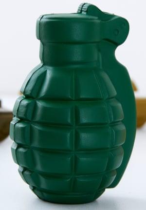 A hand-grenade stress reliever.