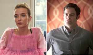 Jodie Comer in Killing Eve and Bill Hader in Barry.