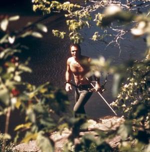 Burt Reynolds in Deliverance (1972).
