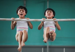 Sport category, winner: Yuan PengLiu Bingqing and Liu Yujie are twin sisters who have studied and trained in gymnastics since their early childhood in Jining, China