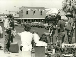 A behind the scenes still from Wake in Fright