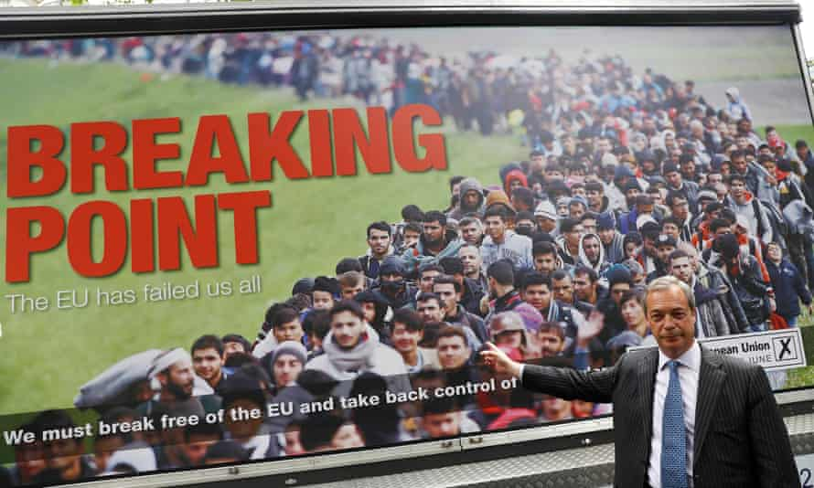 Nigel Farage and his 'breaking point' poster