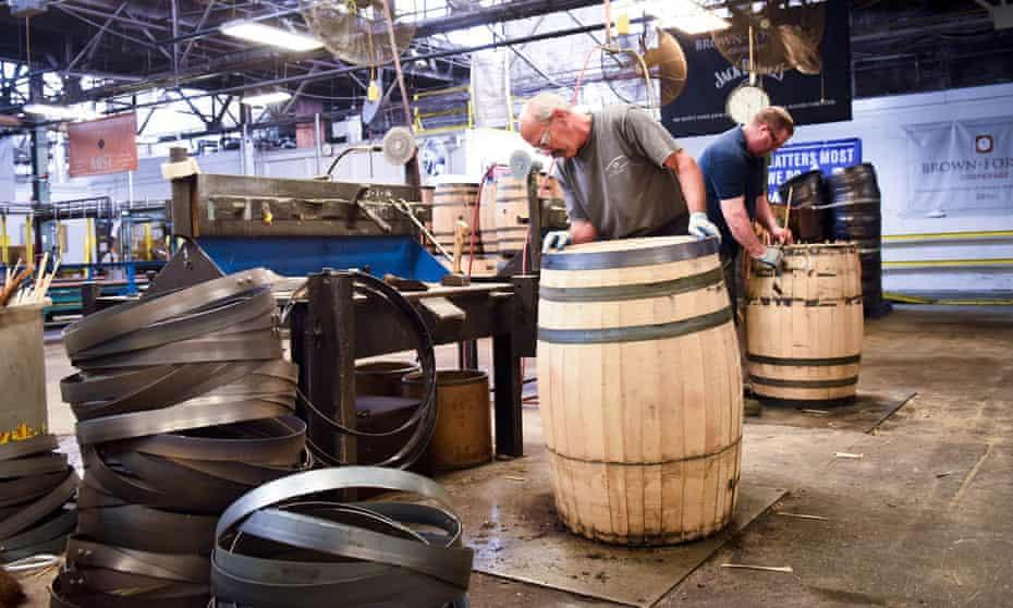 Barrel making at Jack Daniel's distillery