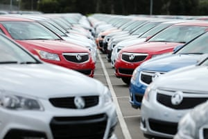 New cars are parked on the lot at the Holden manufacturing plant at Elizabeth in Adelaide in 2013