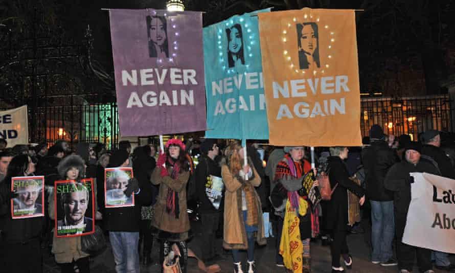 Large protest for the implementation of X Case legislation bill in Dublin