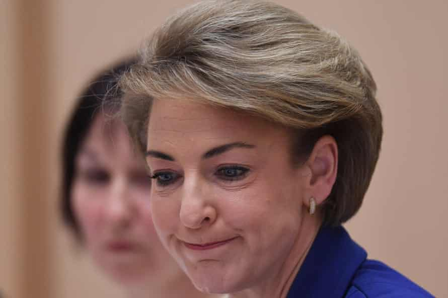 The employment minister, Michaelia Cash, answers questions during Senate estimates on Wednesday night.