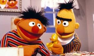 Ernie and Bert on Sesame Street