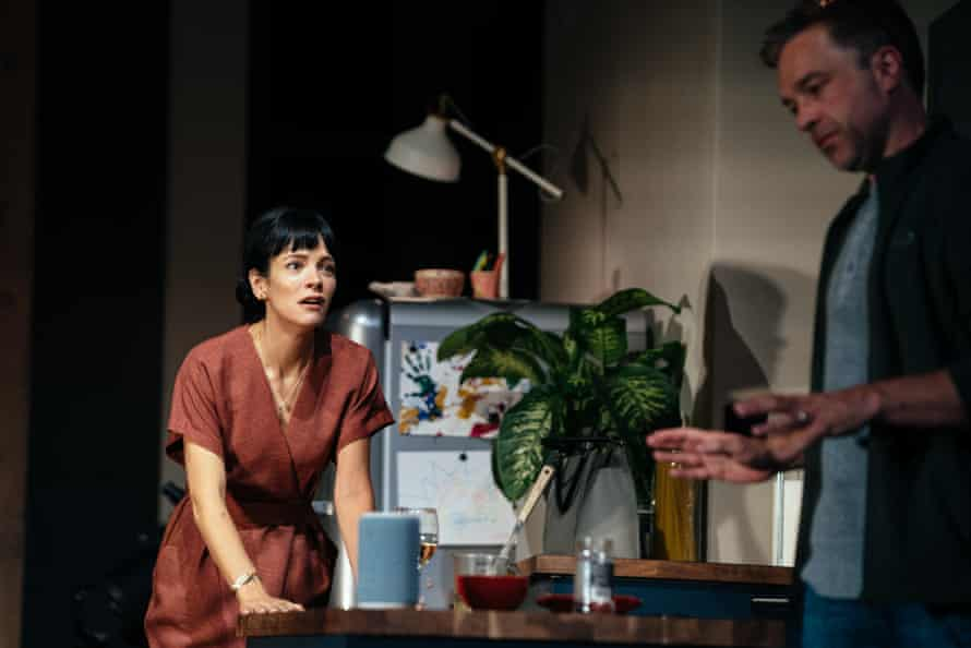 Lily Allen with Hadley Fraser in 2:22: A Ghost Story at the Noël Coward theatre, London.