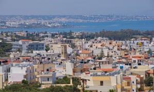 Malia on the Greek Mediterranean island of Crete