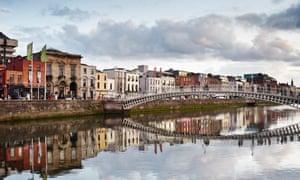 The Ha'penny bridge., Dublin, Republic of Ireland