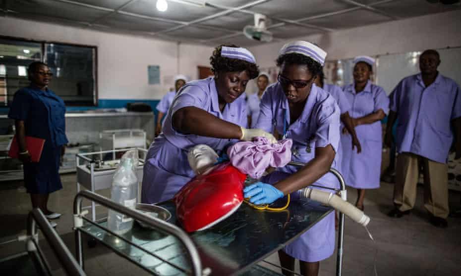 Students at the Masuba Midwifery School , Sierra Leone