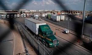 US-Mexico border at the Zaragoza International Bridge in Juarez, Mexico