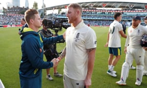Australia's Steve Smith and England's Ben Stokes shake hands after the match  Action Images via Reuters/Paul Childs