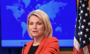 Heather Nauert became the state department spokeswoman last year.