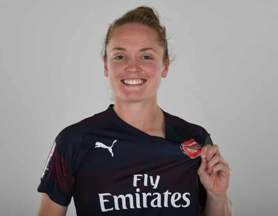 Kim Little of Arsenal during an Arsenal away kit photoshoot.