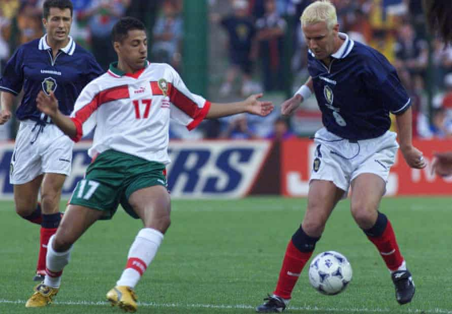 Scotland's Craig Burley in action during their 3-0 defeat to Morocco in St Etienne