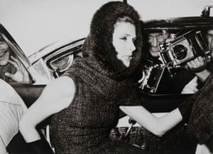 Suzy Parker (dress by Nina Ricci), Champs-Elysée, Paris, 1962