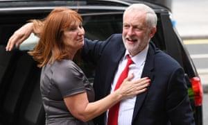 Karie Murphy and Jeremy Corbyn