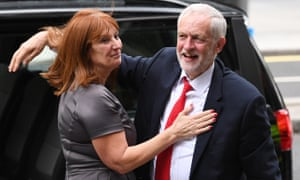 Karie Murphy, pictured with Jeremy Corbyn, played a key role in Labour's 2017 election campaign.