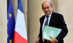 Jean-Yves Le Drian, the French foreign minister