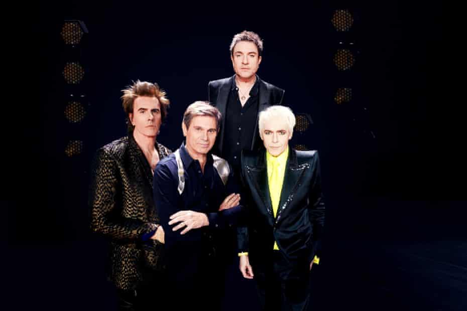 Duran Duran ... (clockwise from left) John Taylor, Simon Le Bon, Nick Rhodes, Roger Taylor.