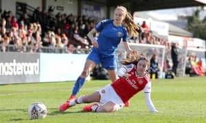 Katie Rood in action for Lewes against Arsenal in February.