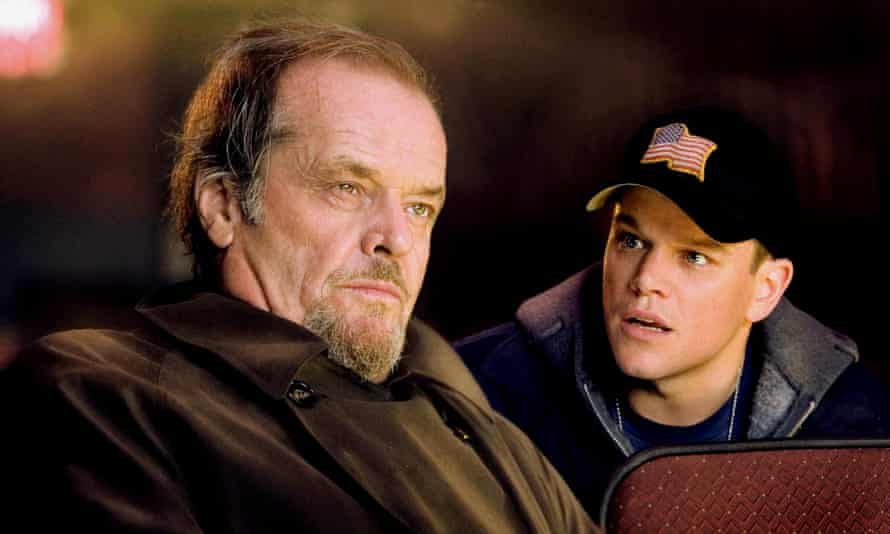 Jack Nicholson and Matt Damon in the Departed in 2006. Nicholson announced his retirement in 2013 reportedly due to memory issues.