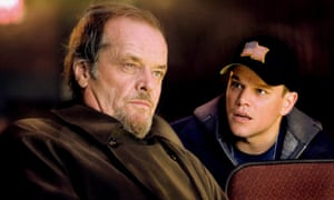 Swift ascent ... Jack Nicholson and Matt Damon in The Departed.