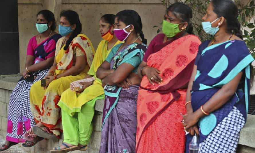 Domestic workers in India, many of whom have lost their jobs after the coronavirus outbreak