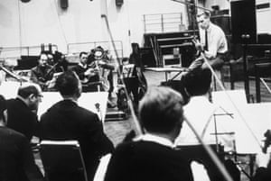 Martin with an orchestra in 1965.