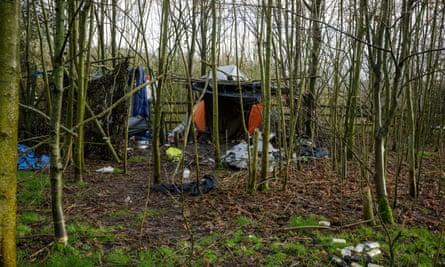 An informal residence in woodland near Wells, Somerset.