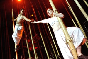 Paul Sharma and Vanessa Ackerman in Ramayana at the Lyric Hammersmith, 2007.