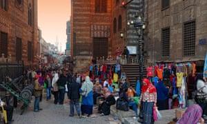 Khan al-Khalili bazaar in Cairo, Egypt.