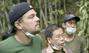 Uncovering climate change the mask … DiCaprio in Indonesia in Before the Flood.