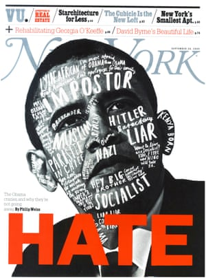 Obama crazies … New York magazine's 28 September 2009 issue.