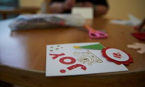 A crafts session at Guild Lodge NHS secure mental health unit in Lancashire.