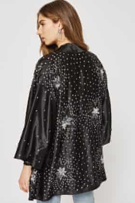 Star print kimono, £89 from Topshop.