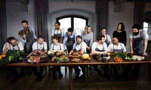 'We created a community': Rene Redzepi, centre, at Noma.