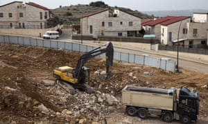 Construction work in the Jewish settlement of Ariel.