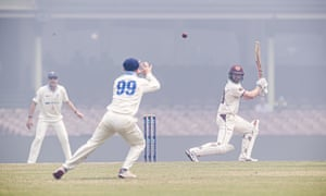 Sheffield Shield cricket played in a smoke haze