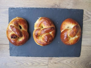 Richard Bertinet's pretzels.