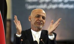 Slow hand clap. Ashraf Ghani shown in March.