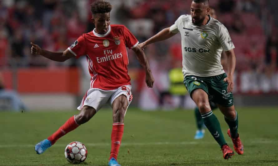 Gedson Fernandes (left) has family in London but Lyon, Manchester United and Everton are reportedly linked with moves for the player.