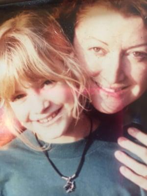 Marisa Bate with her mum.