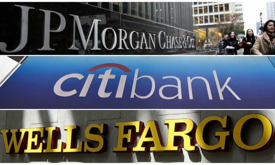 JP Morgan Chase, the US banks Wells Fargo, Citi and Bank of America dominate financing for fossil fuels, accounting for nearly a third of the £2.2tn.