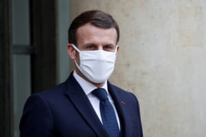 French President Emmanuel Macron at the Elysee Palace in Paris, France, 27 January, 2021.