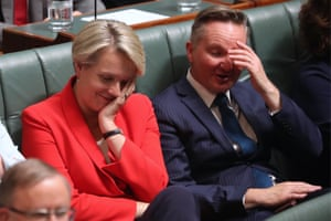 Labor's Tanya Plibersek and Chris Bowen during question time